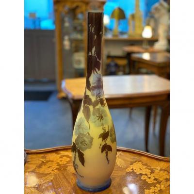 Gallé Large Art Nouveau Vase