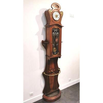 Art Nouveau Parquet Clock
