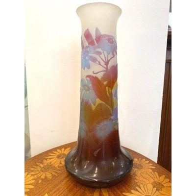 Gallé Art Nouveau Vase