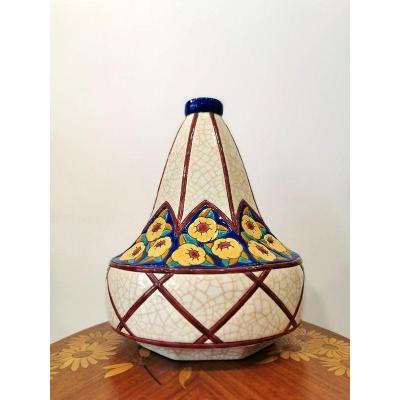 Longwy Art Deco Coloquinte Vase