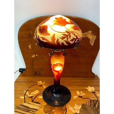 d'Argental Lampe Champignon Art Nouveau
