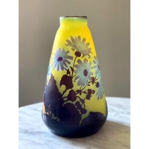 Emile Gallé vase aux marguerites Art Nouveau