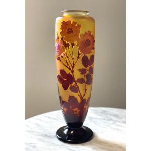 Vase Gallé Art Nouveau Aux Roses