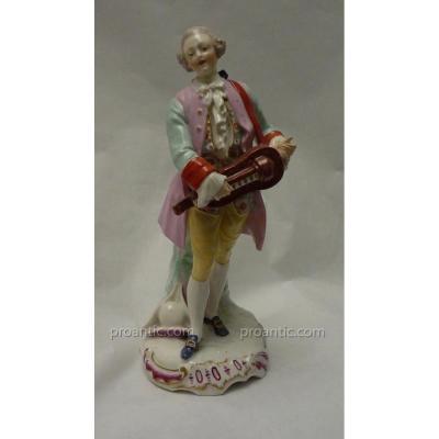 Statuette En Porcelaine Polychrome, Manufacture Samson, époque XIXème
