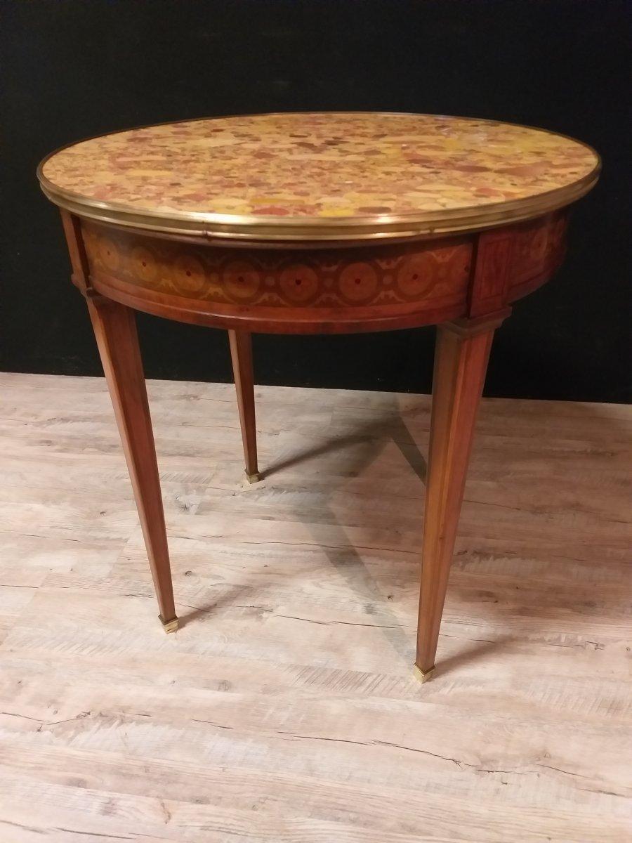 Round Pedestal Louis XVI Style Marquetry-photo-1
