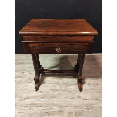 Table De Toilette Empire En Noyer