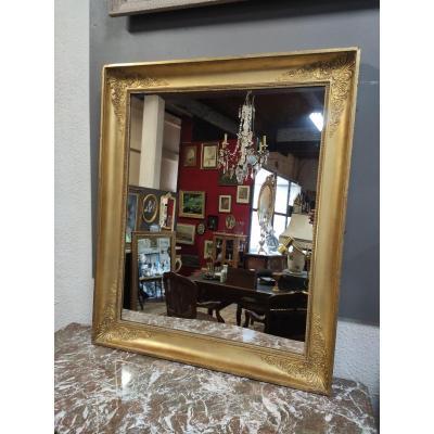 Miroir Napoléon III Rectangulaire Doré