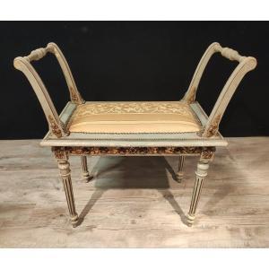 Banquette De Piano Louis XVI Italienne