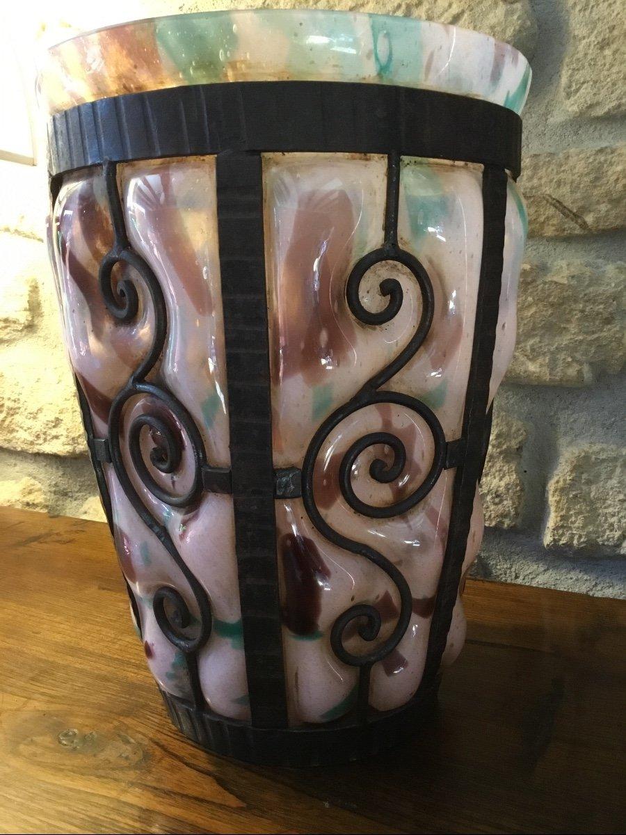Important Vase Art Déco, époque 1925 Signé Delatte Nancy -photo-2