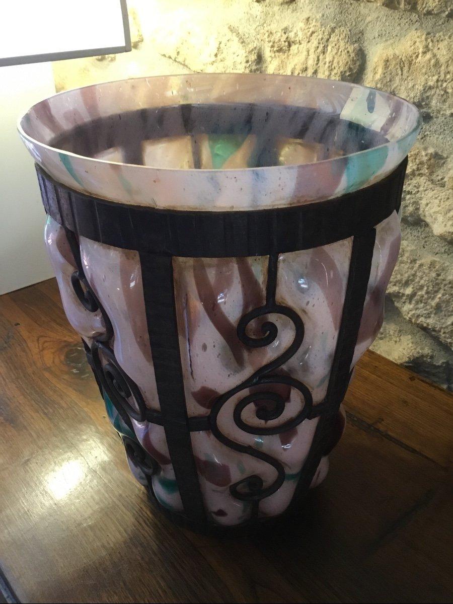 Important Vase Art Déco, époque 1925 Signé Delatte Nancy -photo-6