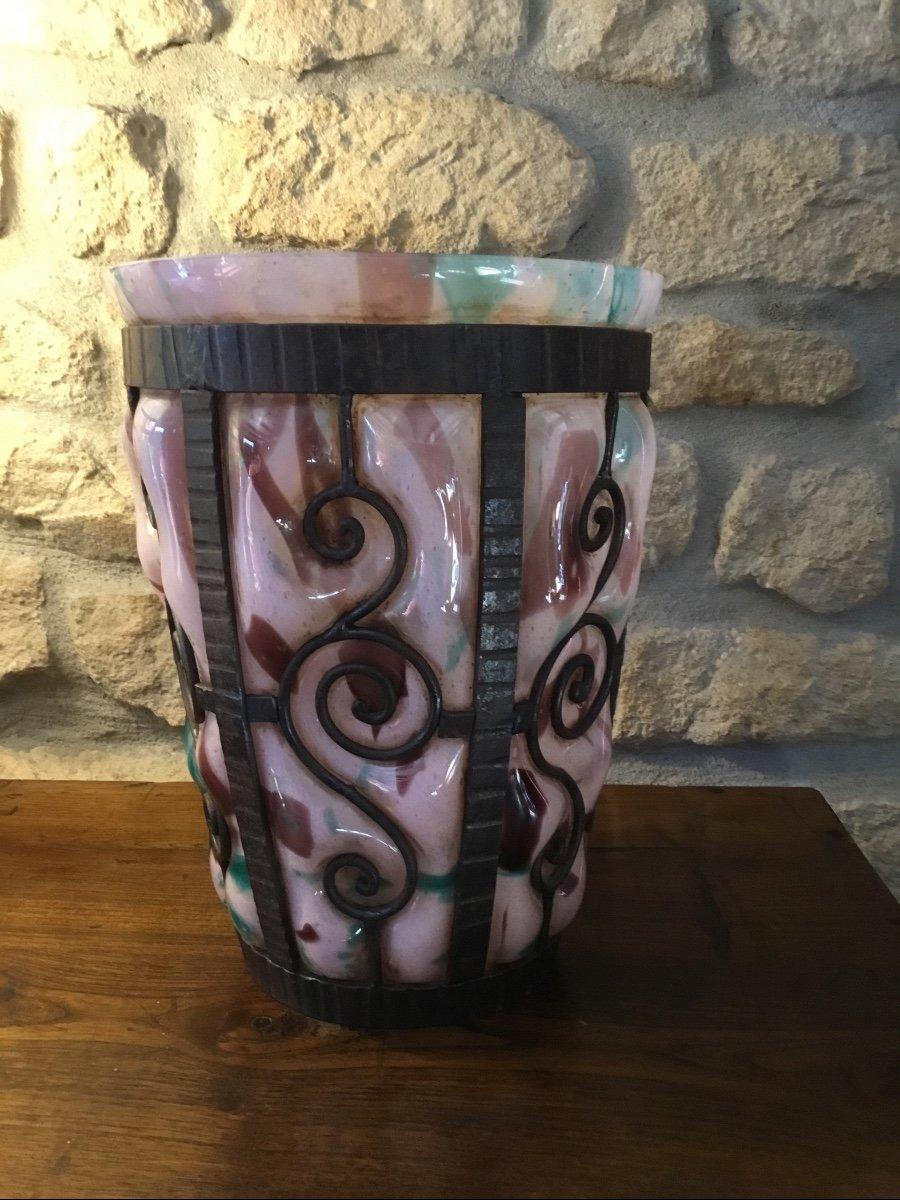 Important Vase Art Déco, époque 1925 Signé Delatte Nancy