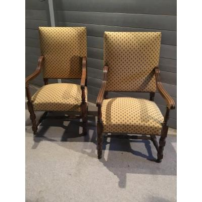Pair Of Armchairs Nineteenth Century