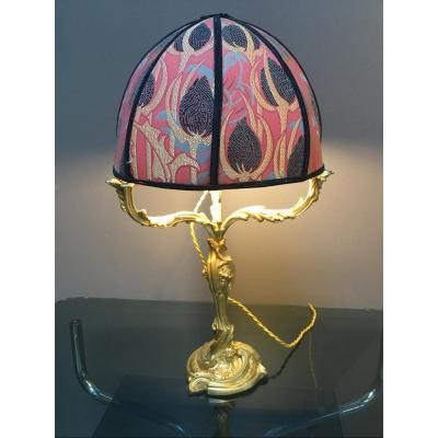 Art Nouveau Lamp - Jollet & Cie. Bronze Paris