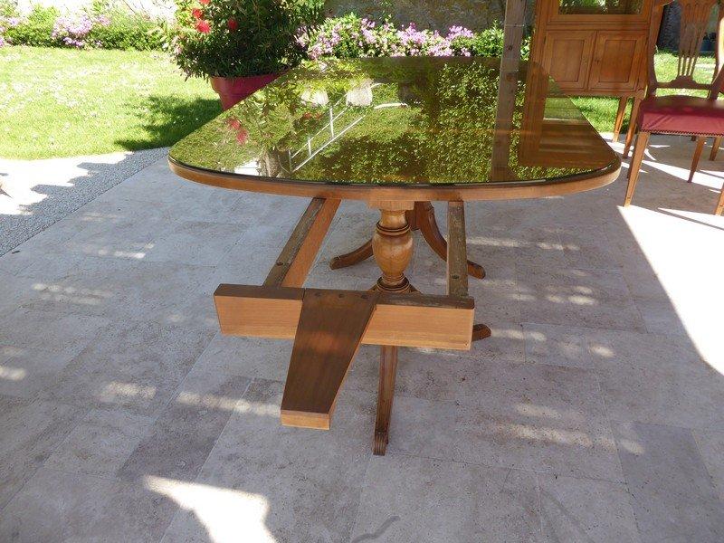 Table De Style Régency Anglaise En Merisier -photo-1
