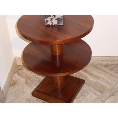 Double Circle Round Pedestal Round 1930