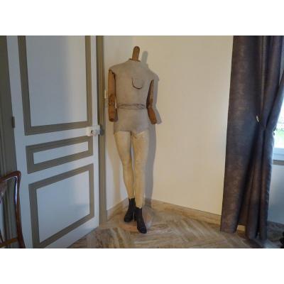 Mannequin Bois Tissus Haut 175 Cm Vers 1900 / 1920