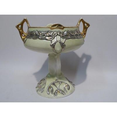 Coupe Centre De Table 1900 En Porcelaine