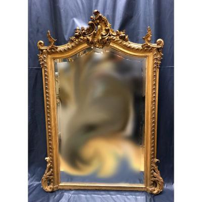 Miroir Doré à Fronton Style Lxv
