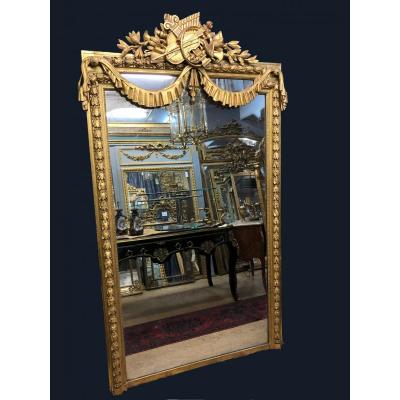 "Large Mirror Representing The ""allegory Of Music"""