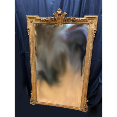 Golden Mirror With Fronton Style Lxvi