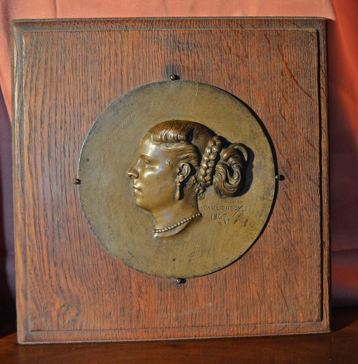 Bronze Bas-relief Signed Paul Duboy-photo-3