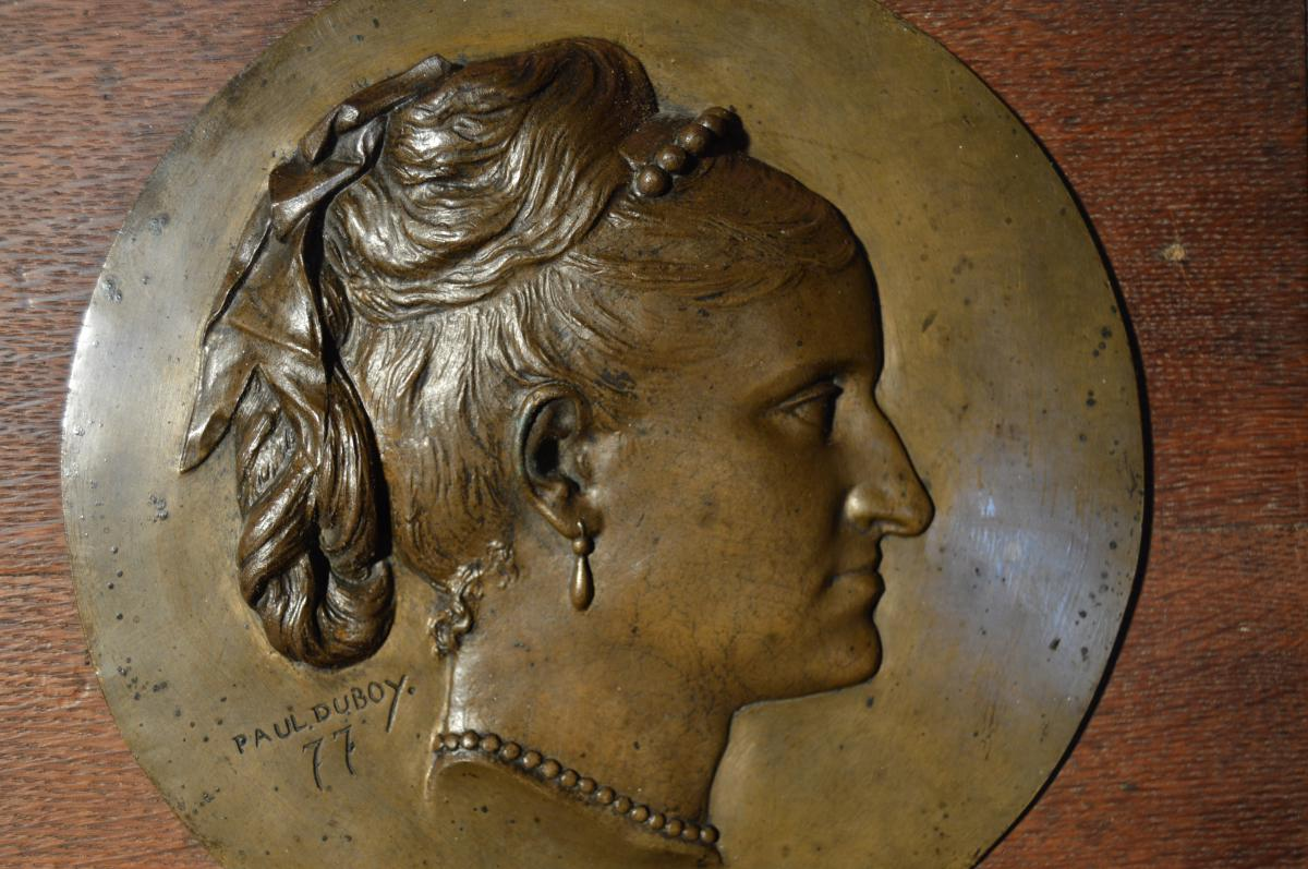 Bronze Bas-relief Signed Paul Duboy-photo-1