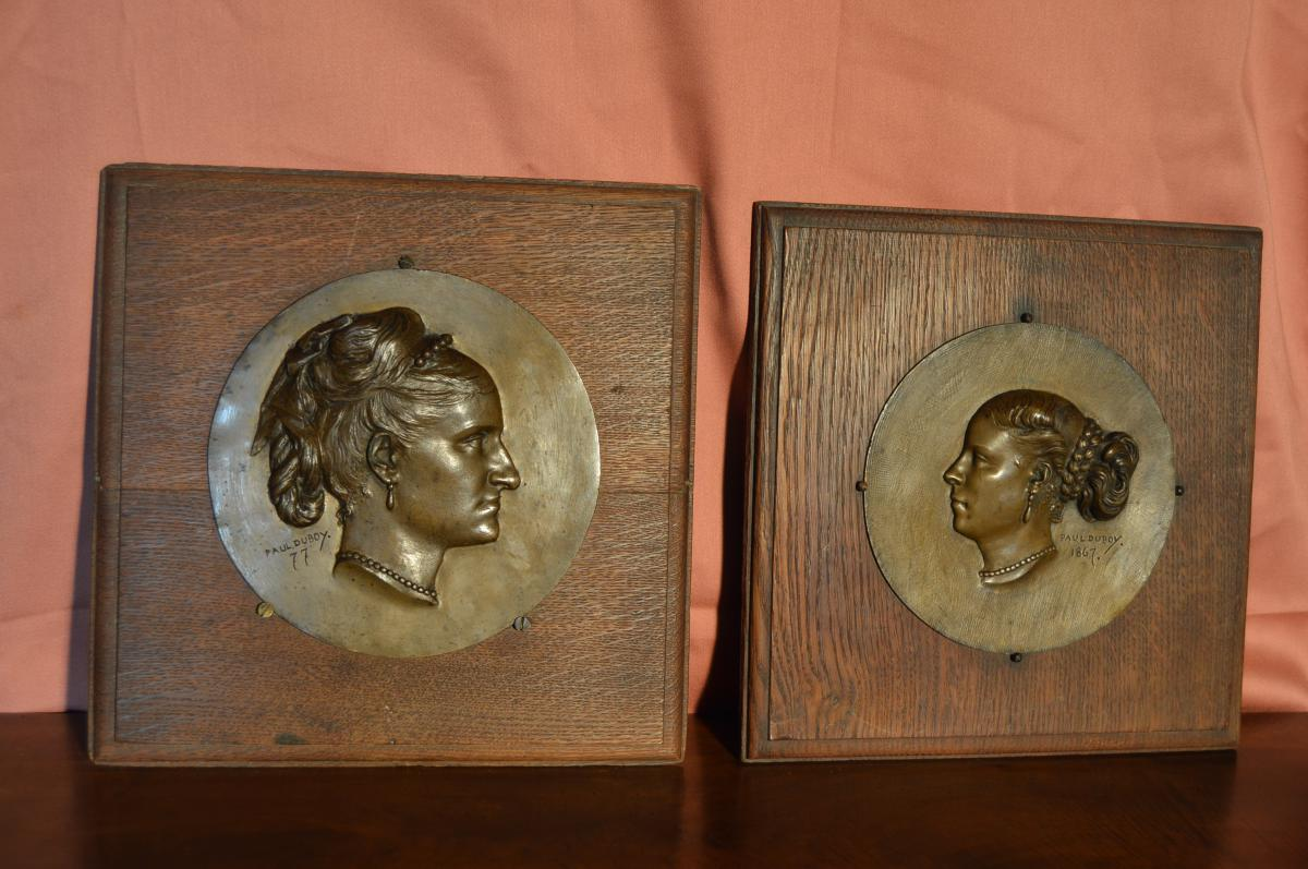 Bronze Bas-relief Signed Paul Duboy-photo-2