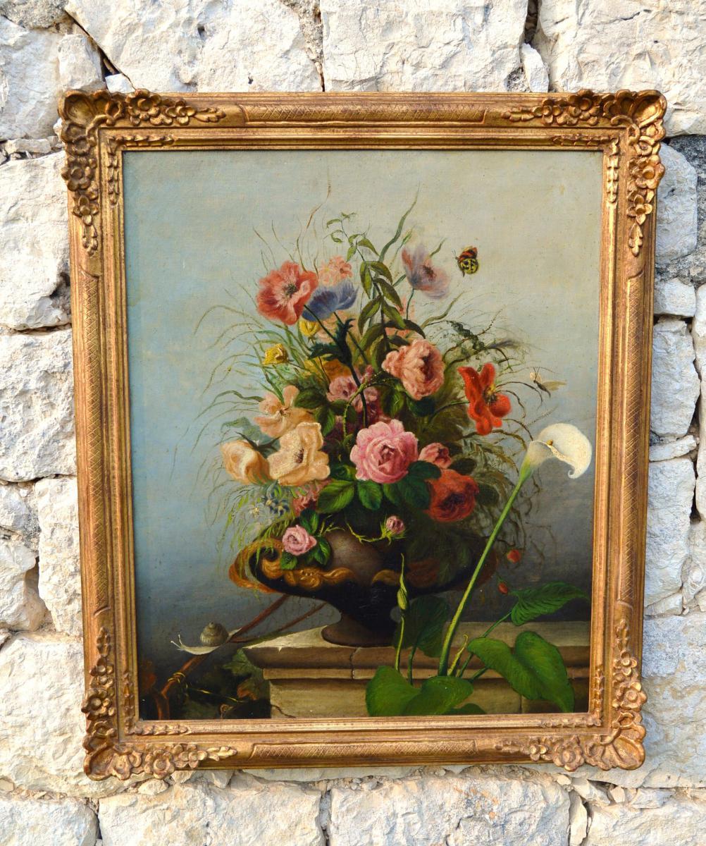 Nature Morte, Bouquet De Fleurs