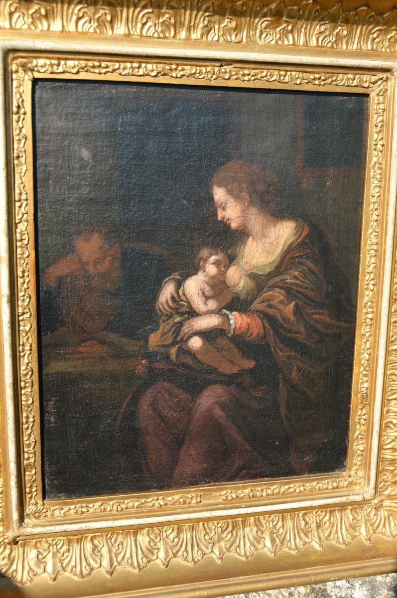 Vierge à l'Enfant Ecole Hollandaise XVII ème Siecle