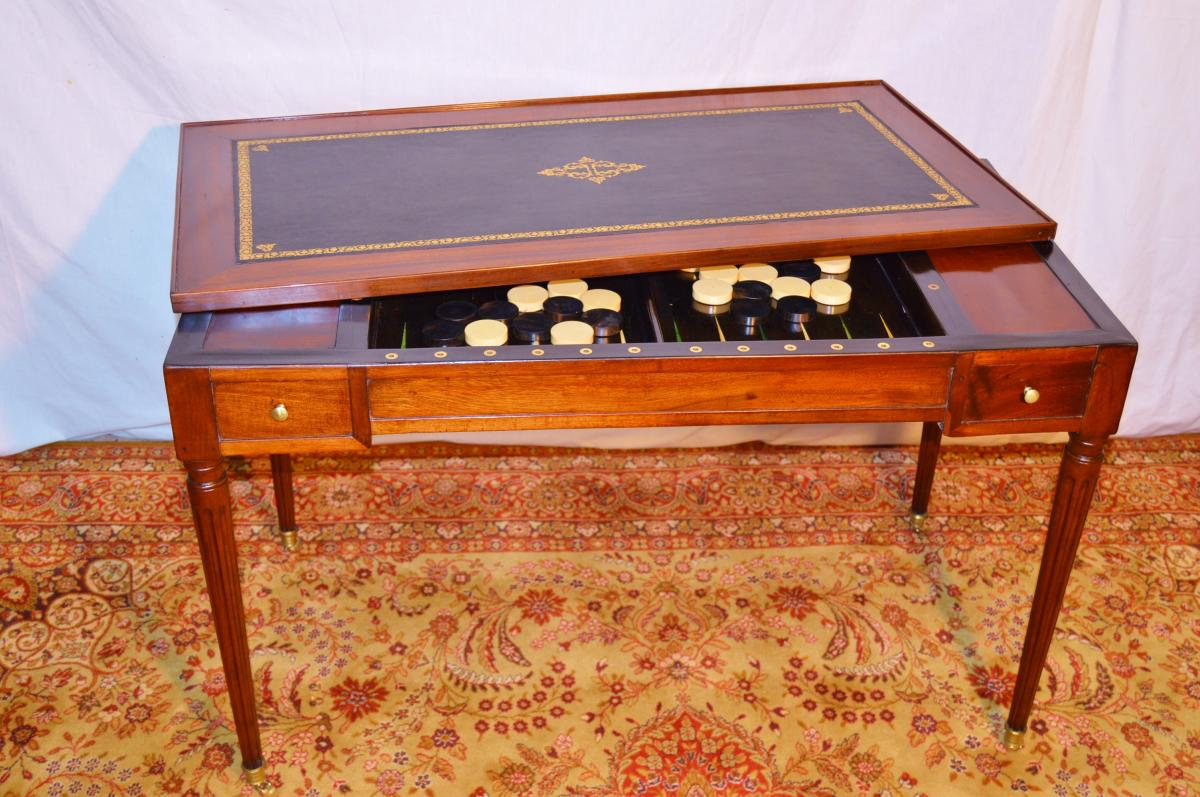 Table à Jeu Tric Trac d'époque Louis XVI