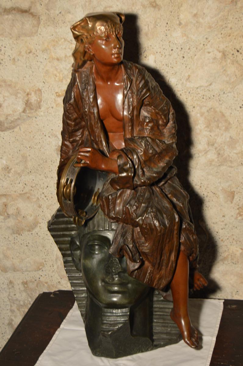 Importante Sculpture En Bronze De Gaston Leroux