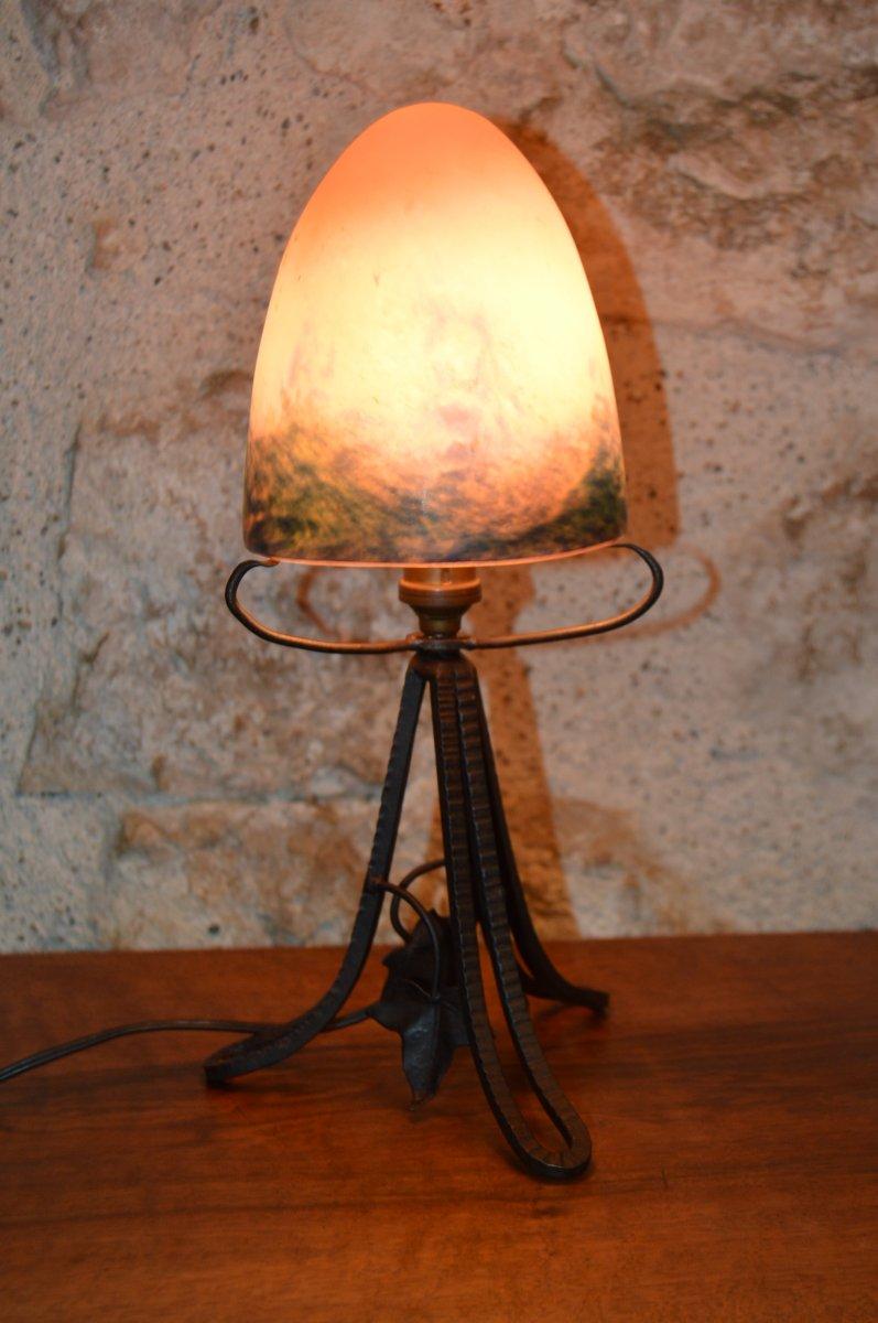 Petite Lampe ou Veilleuse Art Déco - Le Verre Français.