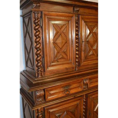 Louis XIII Buffet 4 Doors Withdrawn Period XVII