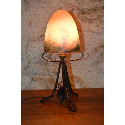 Small Lamp Or Nightlight Art Deco - The French Glass.