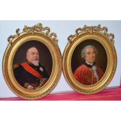 Old Paintings, Pair Of Portraits