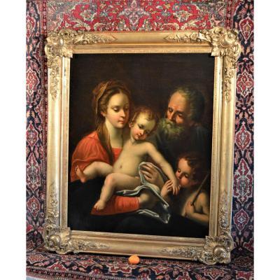Grand Tableau Italien ( La Sainte Famille )
