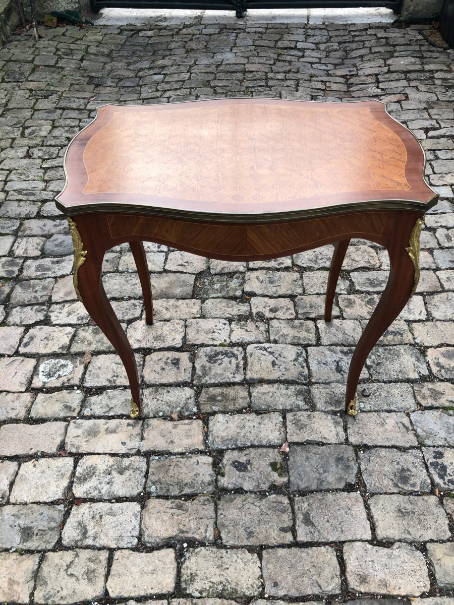 Marquetry Coffee Table-photo-1