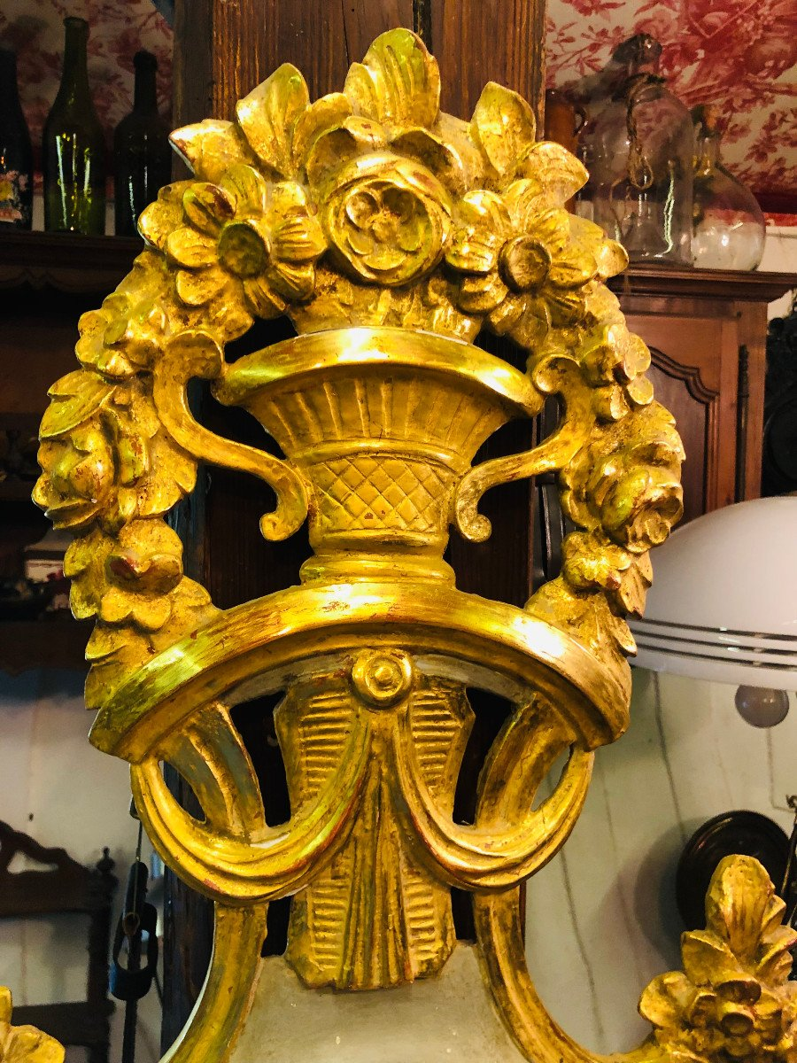 Provencal Barometer In Gilded Wood From The Louis XVI Period.-photo-2
