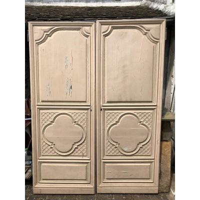 Pair Of Doors 18th Century Louis XIV Style