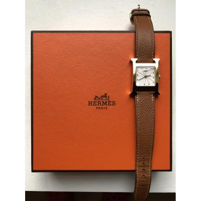Hermès Gold Plated Watch, H Hour Model