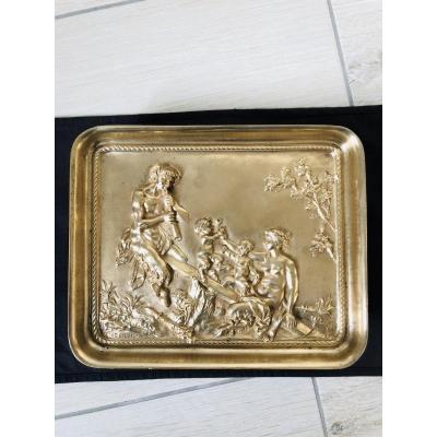 Plat en bronze doré CLODION