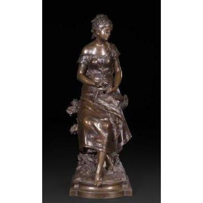 """Auguste Moreau (1834-1917) Bronze """"Rêve de Mai"""""""