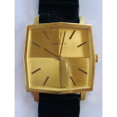 Rare Zenith Watch In Gold