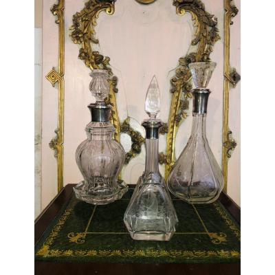 Baccarat Silver Decanters