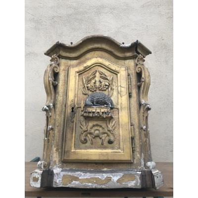 18th Century Gilded Wooden Tabernacle