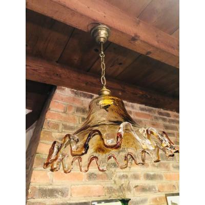 Suspension en verre  Murano