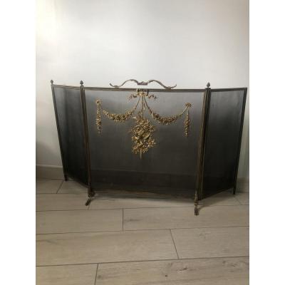 Louis XVI Bronze Firescreen