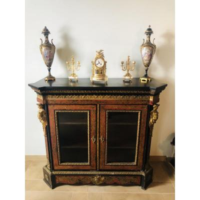 Louis XIV Style Support Unit In Boulle Marquetry, Napoleon III Period