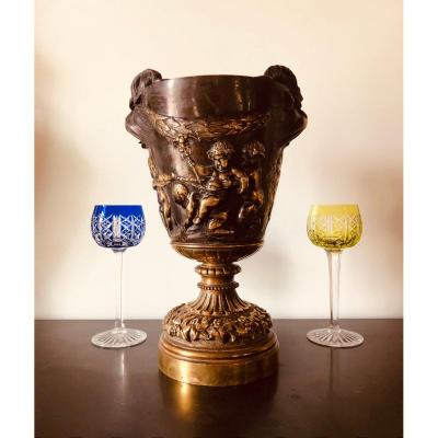 Vase en bronze Clodion  XIX ème