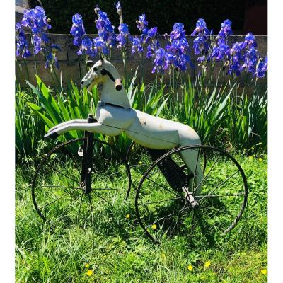Jouet XIX ème cheval tricycle